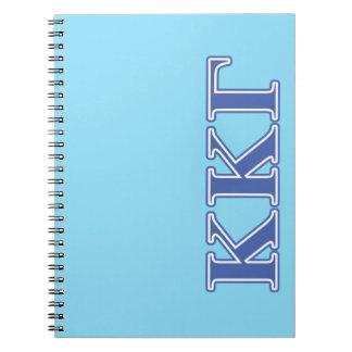 Kappa Kappa Gamma Royal Blue Letters Notebook