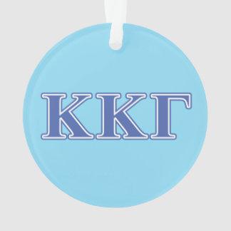 Kappa Kappa Gamma Royal Blue Letters Ornament