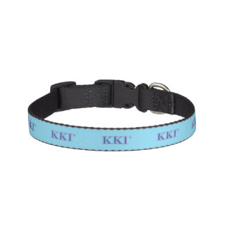 Kappa Kappa Gamma Royal Blue Letters Pet Collar