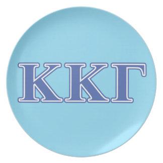 Kappa Kappa Gamma Royal Blue Letters Plate