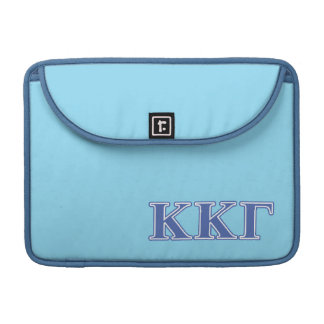 Kappa Kappa Gamma Royal Blue Letters Sleeve For MacBooks