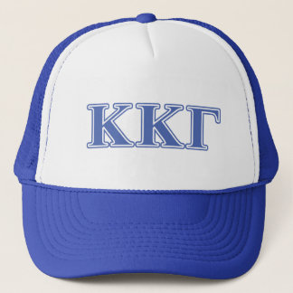Kappa Kappa Gamma Royal Blue Letters Trucker Hat