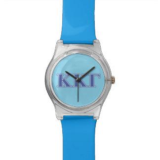 Kappa Kappa Gamma Royal Blue Letters Watch