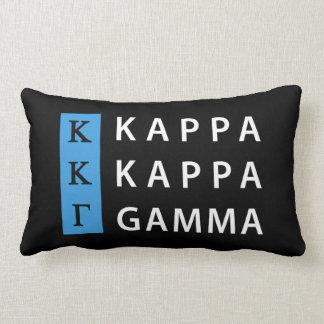 Kappa Kappa Gamma | Stacked Logo Lumbar Cushion