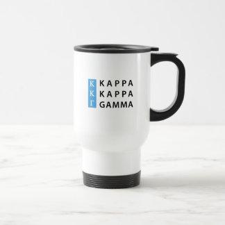 Kappa Kappa Gamma   Stacked Logo Travel Mug