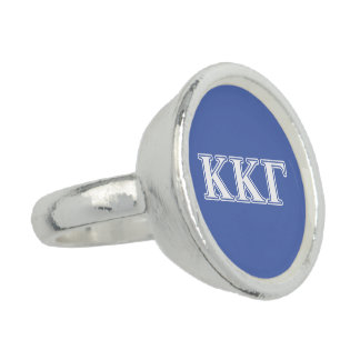 Kappa Kappa Gamma White and Royal Blue Letters
