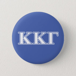 Kappa Kappa Gamma White and Royal Blue Letters 6 Cm Round Badge