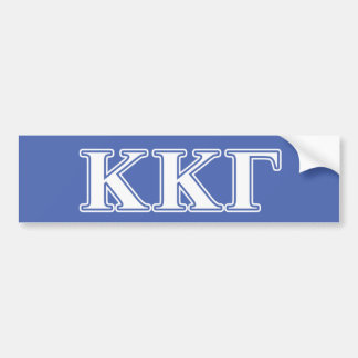 Kappa Kappa Gamma White and Royal Blue Letters Bumper Sticker