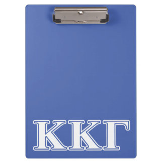 Kappa Kappa Gamma White and Royal Blue Letters Clipboard