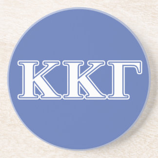 Kappa Kappa Gamma White and Royal Blue Letters Coaster