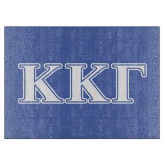 Kappa Kappa Gamma White and Royal Blue Letters Cutting Board