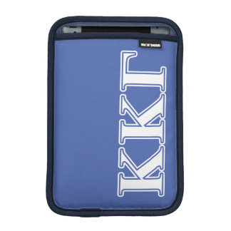 Kappa Kappa Gamma White and Royal Blue Letters iPad Mini Sleeve