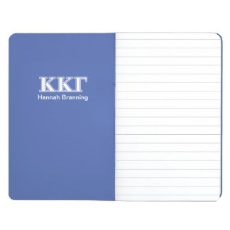 Kappa Kappa Gamma White and Royal Blue Letters Journal