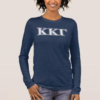 Kappa Kappa Gamma White and Royal Blue Letters Long Sleeve T-Shirt