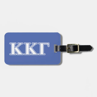 Kappa Kappa Gamma White and Royal Blue Letters Luggage Tag