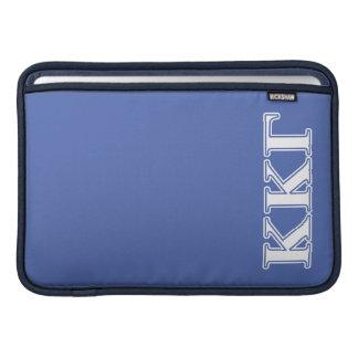 Kappa Kappa Gamma White and Royal Blue Letters MacBook Sleeve