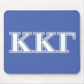 Kappa Kappa Gamma White and Royal Blue Letters Mouse Mat