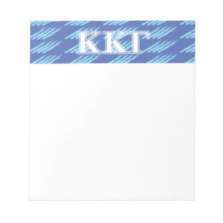 Kappa Kappa Gamma White and Royal Blue Letters Notepad