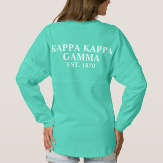 Kappa Kappa Gamma White and Royal Blue Letters Spirit Jersey