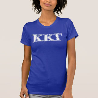 Kappa Kappa Gamma White and Royal Blue Letters T-Shirt