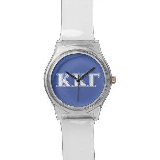 Kappa Kappa Gamma White and Royal Blue Letters Watch