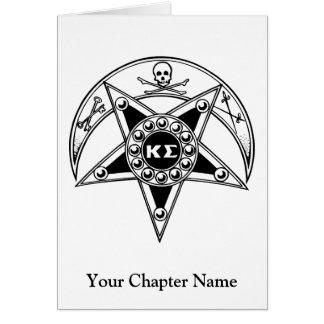 Kappa Sigma Badge Note Card