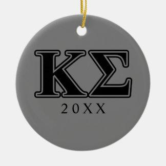 Kappa Sigma Black Letters Christmas Ornament