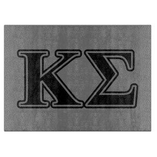 Kappa Sigma Black Letters Cutting Board