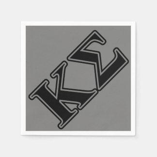 Kappa Sigma Black Letters Disposable Napkin
