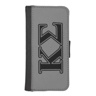 Kappa Sigma Black Letters iPhone SE/5/5s Wallet Case
