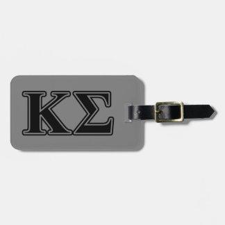 Kappa Sigma Black Letters Luggage Tag
