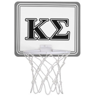 Kappa Sigma Black Letters Mini Basketball Hoop
