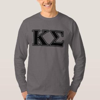 Kappa Sigma Black Letters T-Shirt