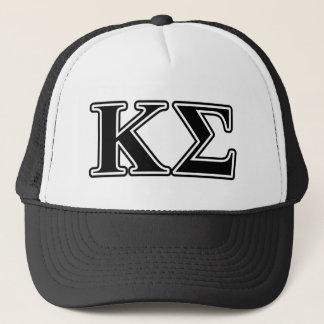 Kappa Sigma Black Letters Trucker Hat