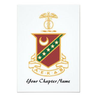 Kappa Sigma Crest 13 Cm X 18 Cm Invitation Card