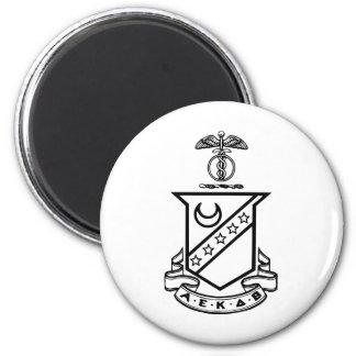 Kappa Sigma Crest - Black and White 6 Cm Round Magnet