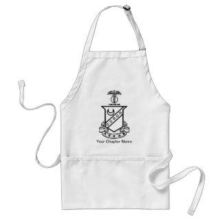 Kappa Sigma Crest - Black and White Aprons