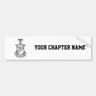 Kappa Sigma Crest - Black and White Bumper Sticker