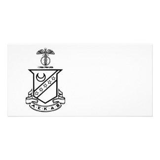 Kappa Sigma Crest - Black and White Card