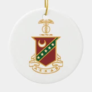 Kappa Sigma Crest Round Ceramic Decoration