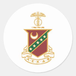 Kappa Sigma Crest Round Sticker