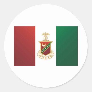 Kappa Sigma Flag Round Sticker