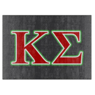 Kappa Sigma Red and Green Letters Cutting Board