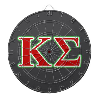 Kappa Sigma Red and Green Letters Dartboard