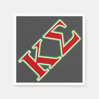 Kappa Sigma Red and Green Letters Disposable Serviette