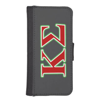 Kappa Sigma Red and Green Letters iPhone SE/5/5s Wallet Case