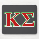 Kappa Sigma Red and Green Letters Mouse Pad