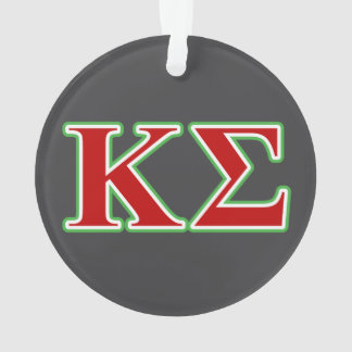 Kappa Sigma Red and Green Letters Ornament