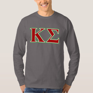 Kappa Sigma Red and Green Letters T-Shirt