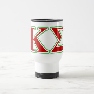 Kappa Sigma Red and Green Letters Travel Mug